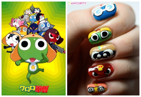Manicurity | freehand Sgt. Frog Nail Art