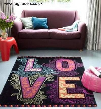 Carpeta de alfombra interior moderna y decorativa