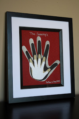 Framed Hands Family Keepsake
