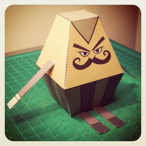 Left 4 Dead 2 Mustachio Papercraft