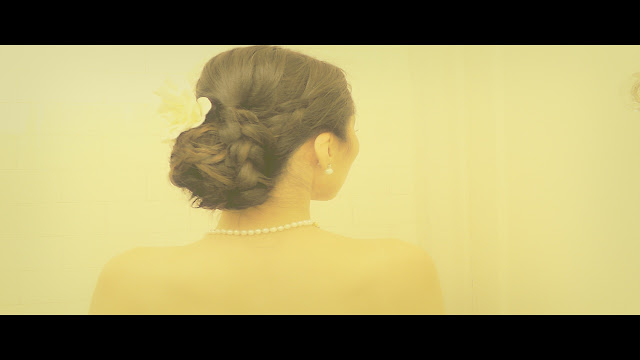 How to wedding hairstyles on your own hair.  Chignon low braided sock bun updos on medium hair and long hair