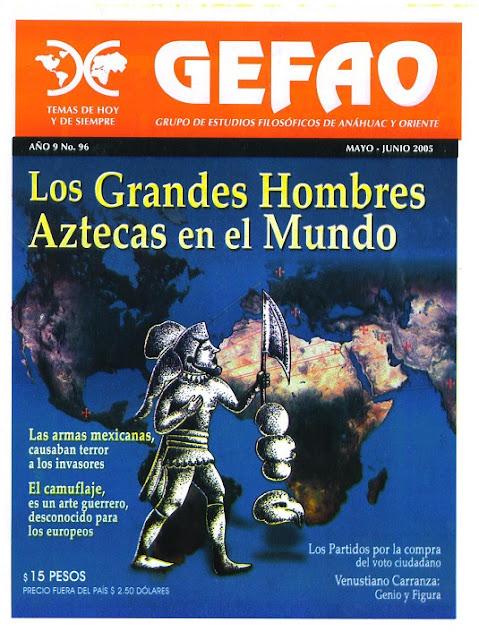 REVISTA GEFAO LOS GRANDES HOMBRES AZTECAS EN EL MUNDO
