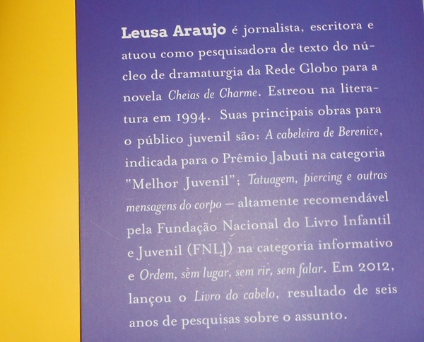 escritora Leusa Araujo livro Cida a empreguete um diário íntimo