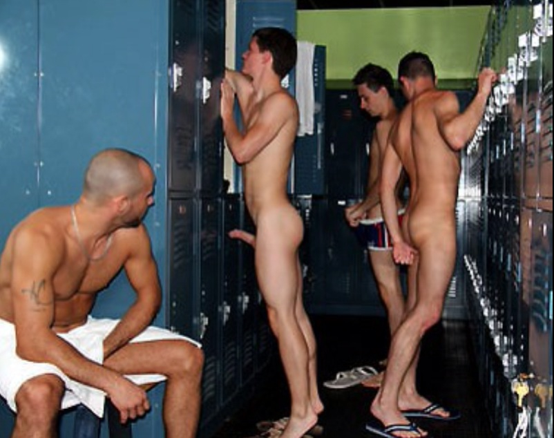 Locker room boners porn something