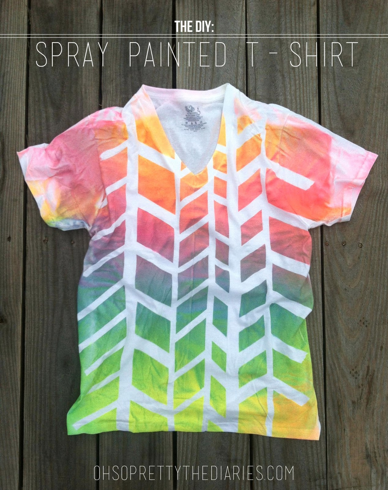 the diy spray painted t shirt
