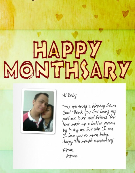 Monthsary Love Quotes For Girlfriend Tagalog Happy monthsary
