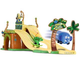 Jungle Junction, race launcher playset, pre-school racing toys, Ellyvan, Crocker, www.emmysmummy.com