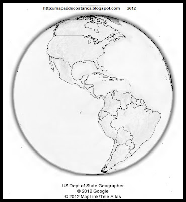 El Mundo, google earth, vista nocturna, America, blanco y negro