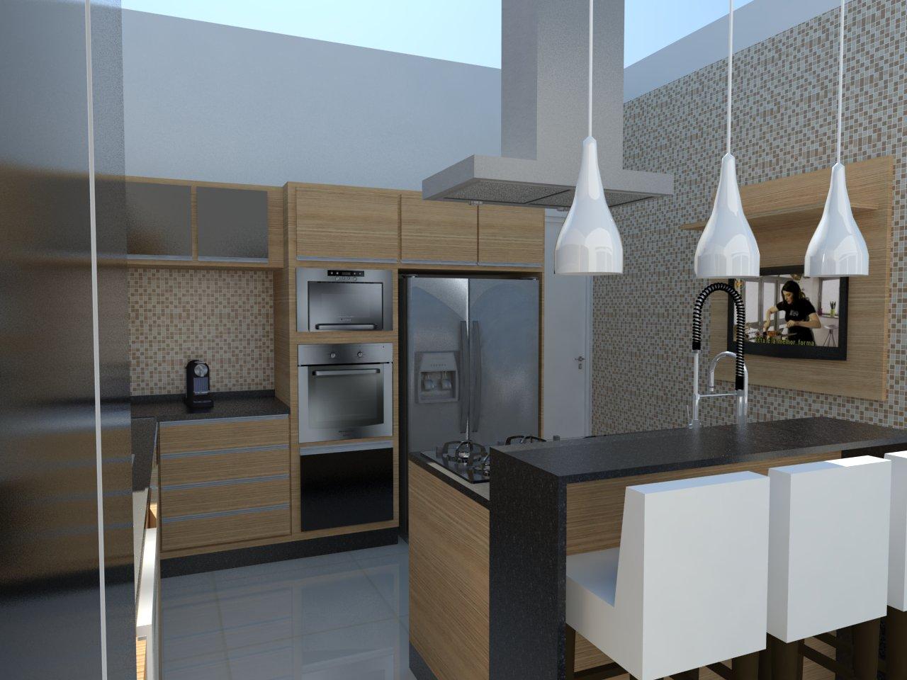 de gesso e fez esse rasgo de luz por toda extensão da cozinha #90703B 1280 960