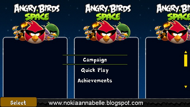 free  game angry bird space for nokia x2-01