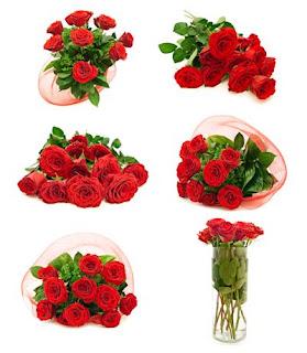 6 fotos de arreglos florales de rosas rojas