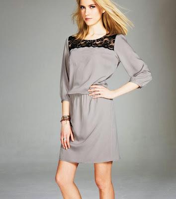 Venca - Vestido con encaje mujer