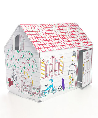 Random tips from Karen: Zulily - Color your own cardboard playhouse ...