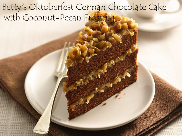 ... Betty's Oktoberfest German Chocolate Cake with Coconut-Pecan Frosting