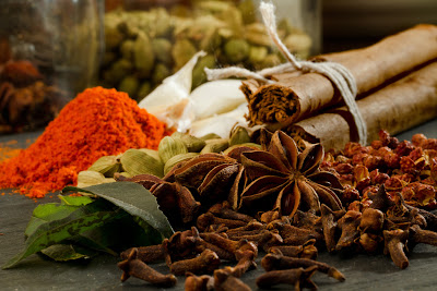 A photograph of spices