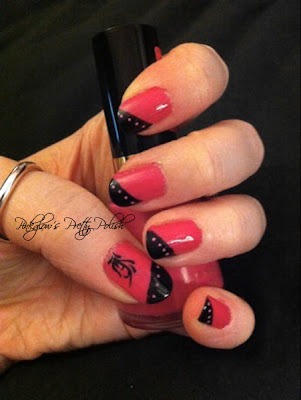 Pink and Black Nail Art Revlon