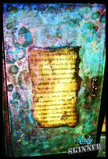 Andy Skinner Book Cover Altered decoart