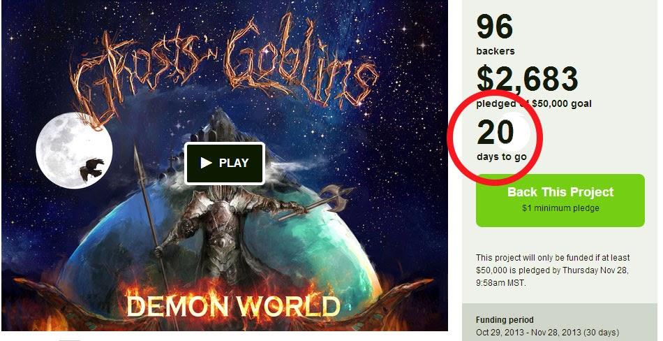 Ghosts 'N Goblins Kickstarter