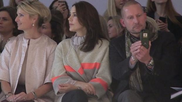 Crown Princess Mary at the Mark Kenly Domino Tan fashion show in Copenhagen