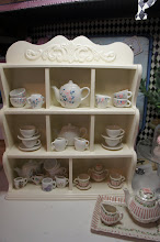 Tea Set Shelf Makeover