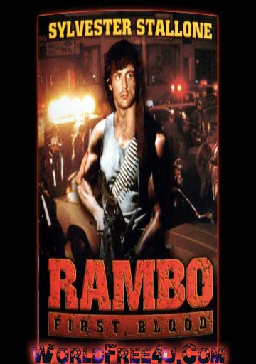 Poster Of Rambo 1 First Blood (1982) In Hindi English Dual Audio 300MB Compressed Small Size Pc Movie Free Download Only At Worldfree4uk.com