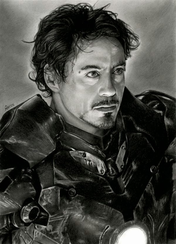 09-Iron-Man-Kanisa-A-Lilith-Drawings-of-Actors-&-Celebrities-www-designstack-co