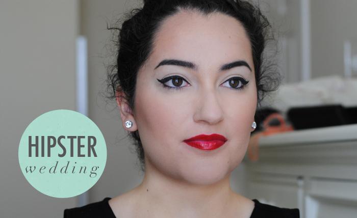 hipster makeup for wedding, bridal makeup tips, how to do makeup for a hipster wedding, pin up makeup for wedding