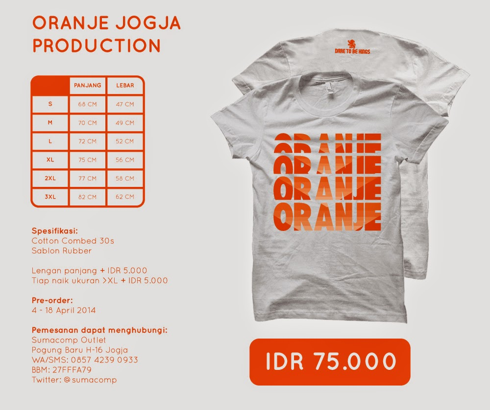 Oranje Dare to Be  >> White