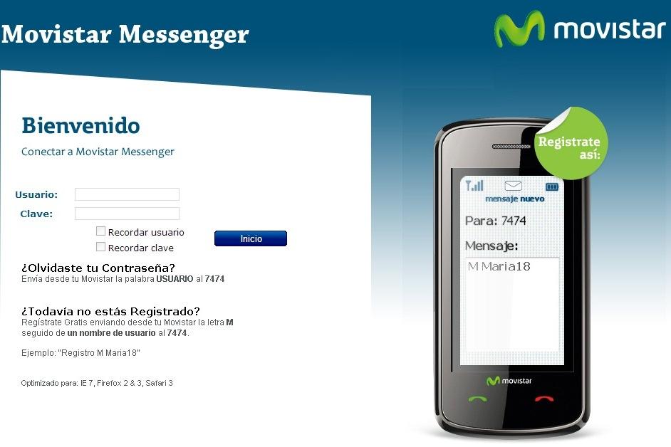 Chatear con Movistar Messenger