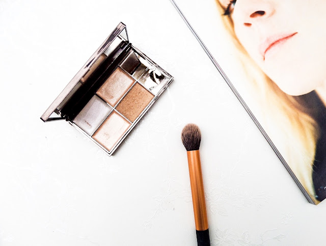 Sleek Face & Body Precious Metals Highlighter and Real Technique Contour Brush