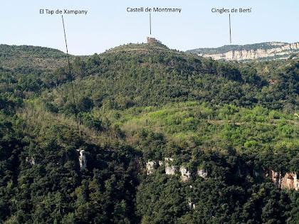 El Sot del Bac des de la Serra del Castellar