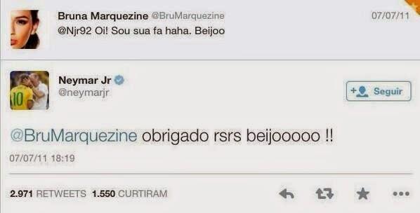 tweet bruna marquezine neymar