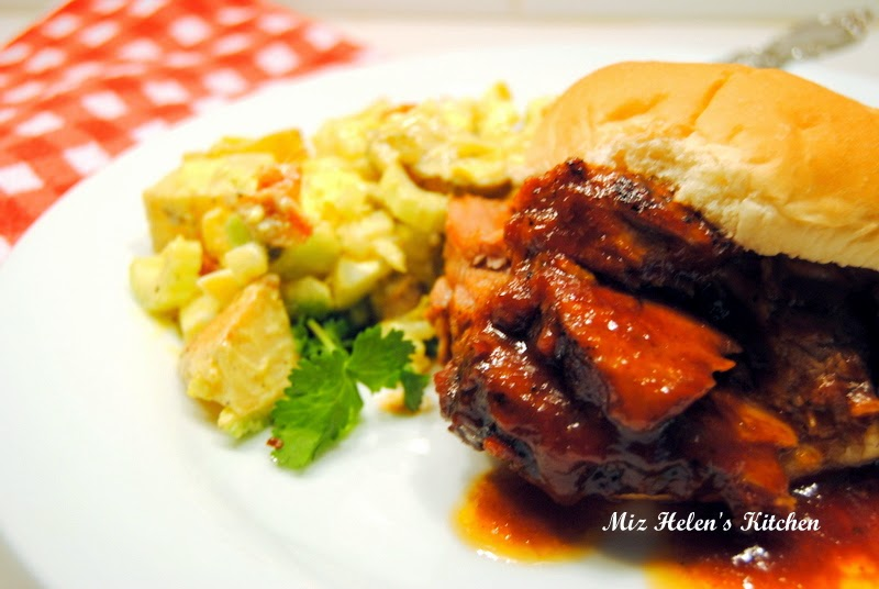 Slow Cooker BBQ Pork Roast at Miz Helen's Country Cottage