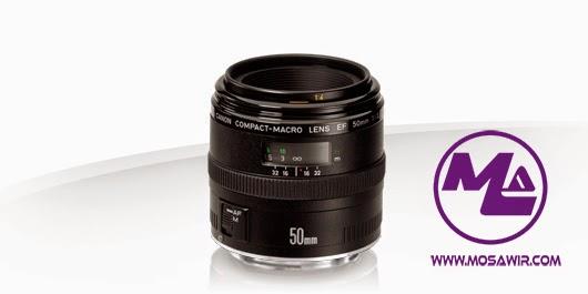 عدسة كانون: EF 50mm f/2.5 Compact Macro