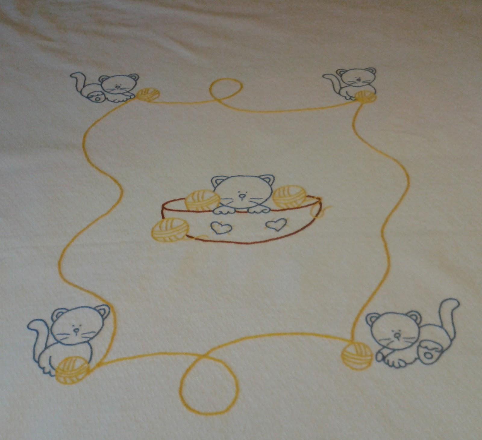 Elisaricamo completo per lettino - Disegni punto croce per tovaglie da tavola ...