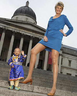 Woman with the world's longest leg