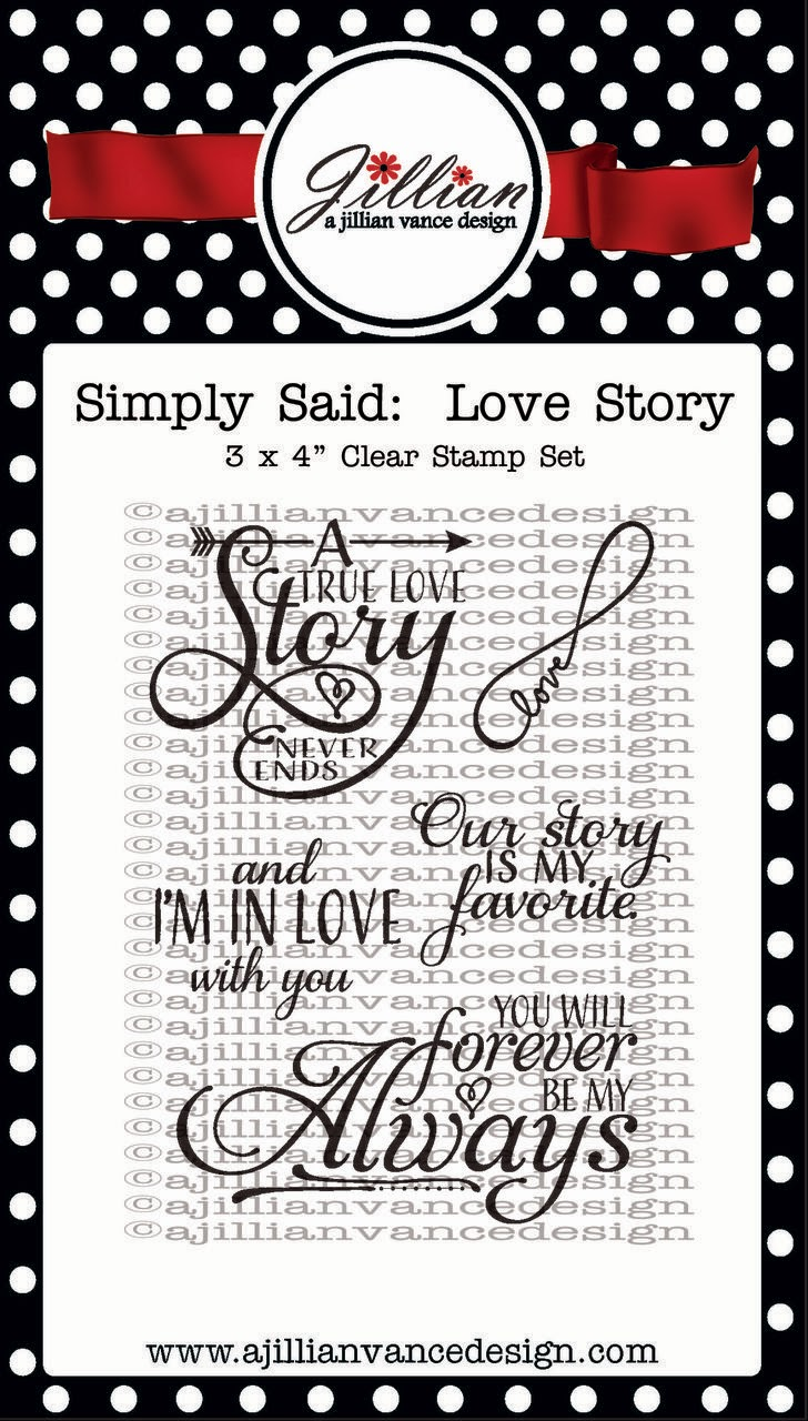 Simply Said Love Story stamps