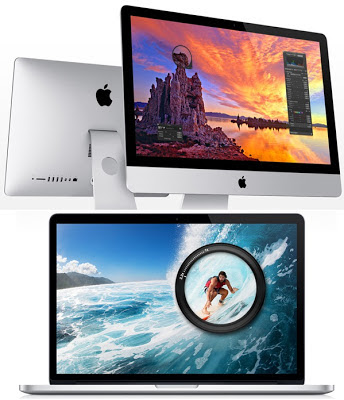 Apple MacBook Pro with Retina Display and iMac 2012