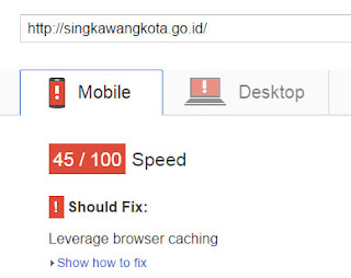test web singkawang kota pagespeed mobile