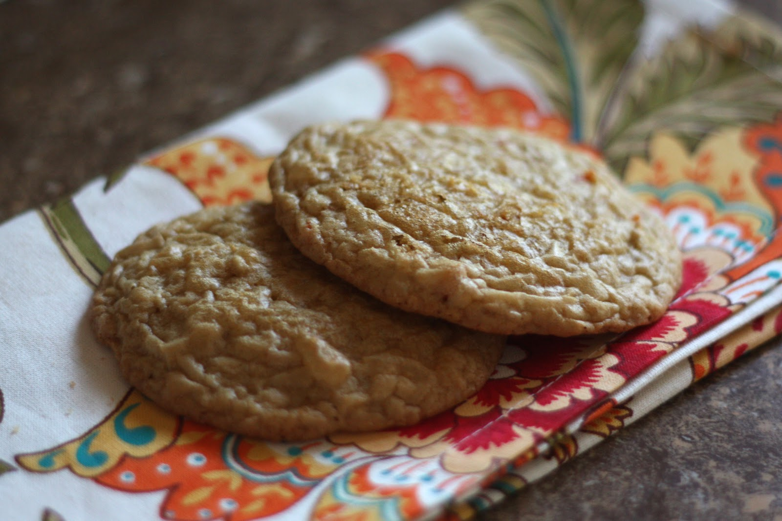 Barefeet In The Kitchen: Ginger Spice Carrot Cake Cookies