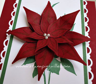 Creating a Paper Poinsettia with Stampin' Up! Punches