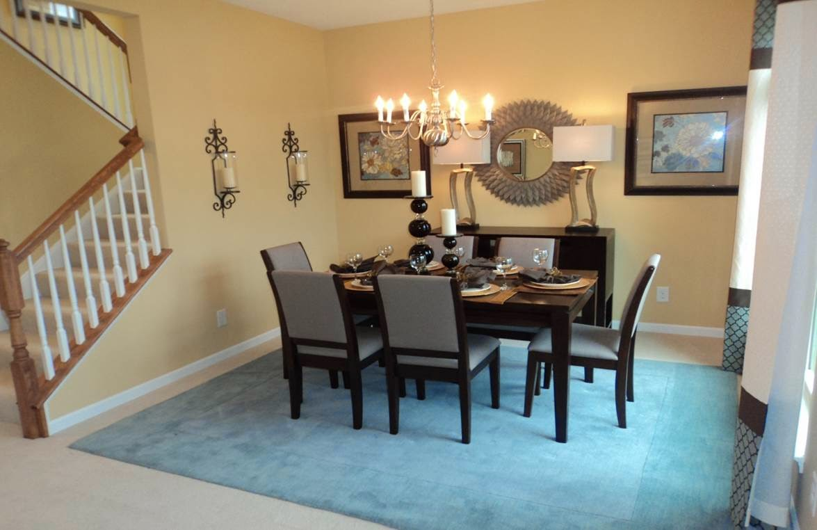 Building our venice with ryan homes venice model photos for Model home dining room