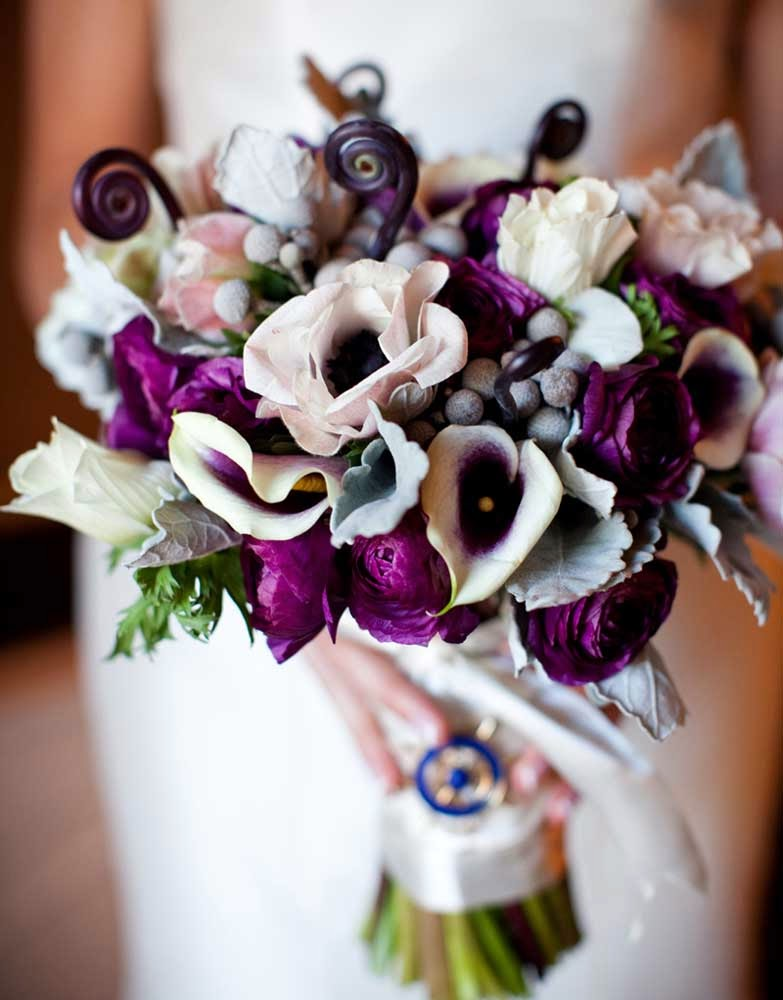 Purple and White Wedding Flowers Decoration Ideas pictures hd