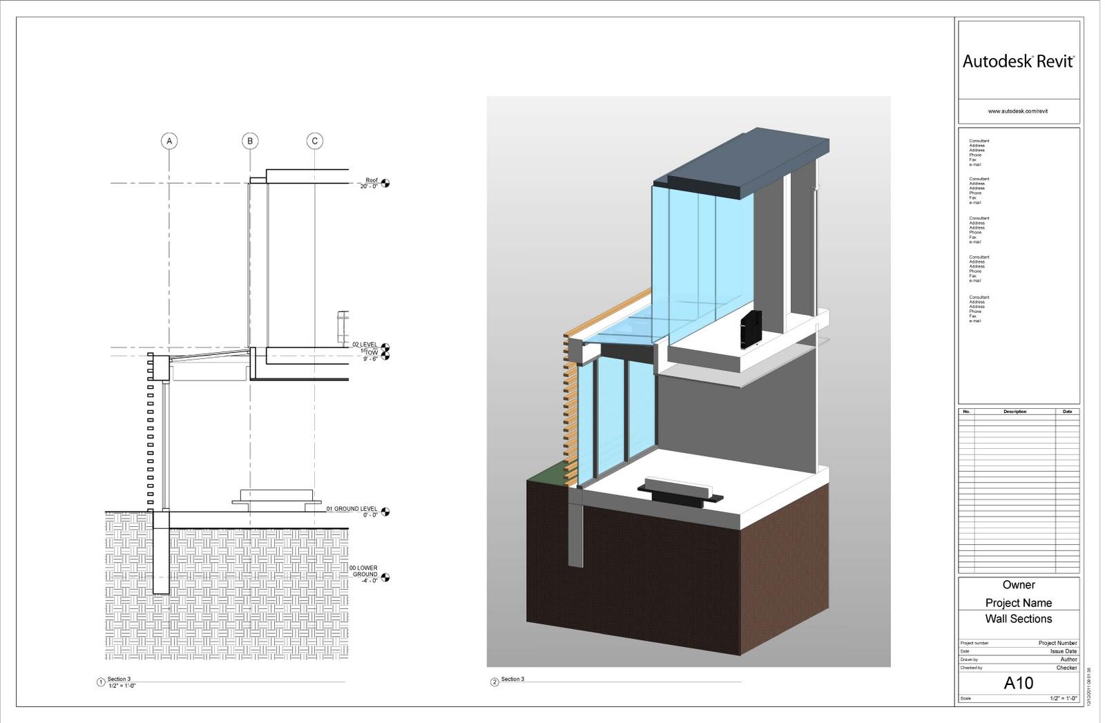 Revit detail modern house scope box view for Revit architecture modern house design 1