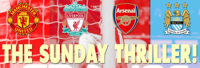 Jadwal Super Sunday Liga Primer Inggris Minggu 13 Januari 2013