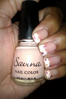 French tip, frenchie, pink, polka dot, nail art, mani