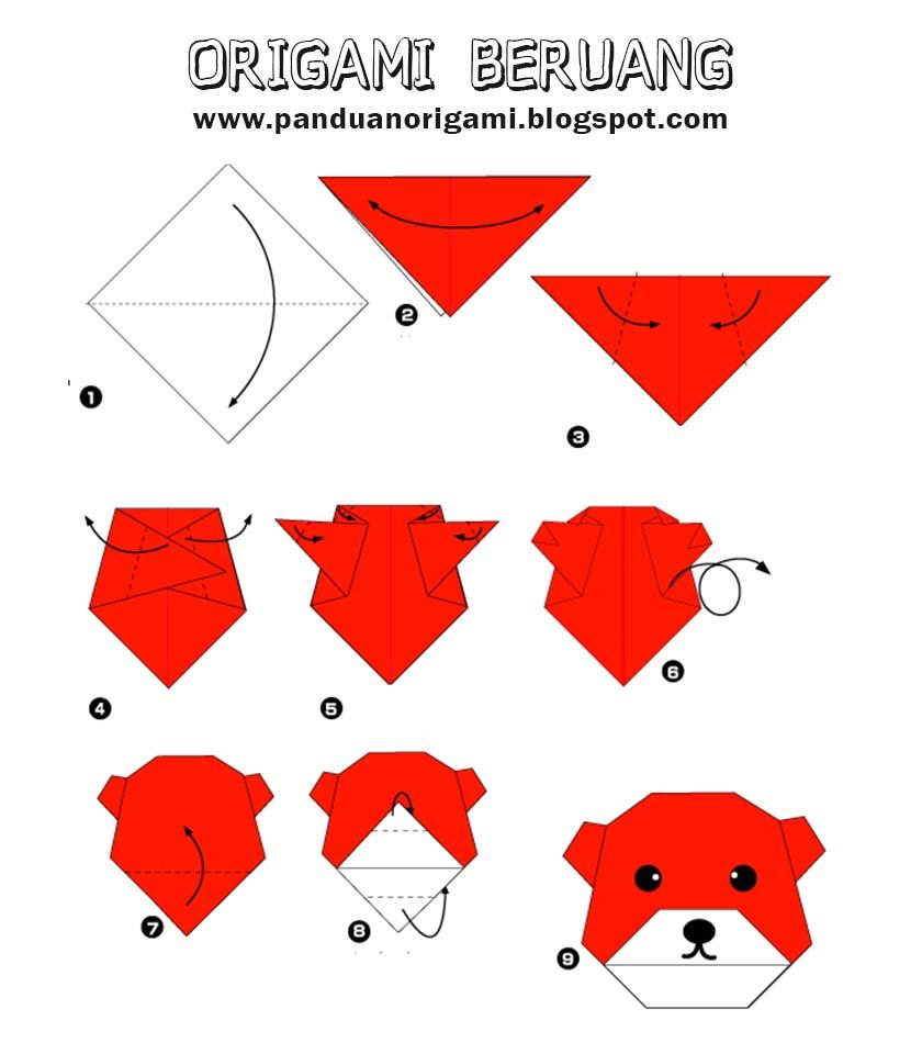 Panduan Membuat Origami Beruang - Panduan Belajar Membuat