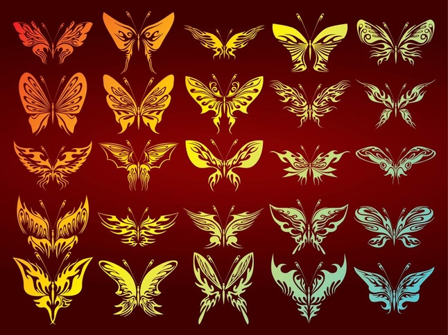 Free Butterflies Graphics Collection