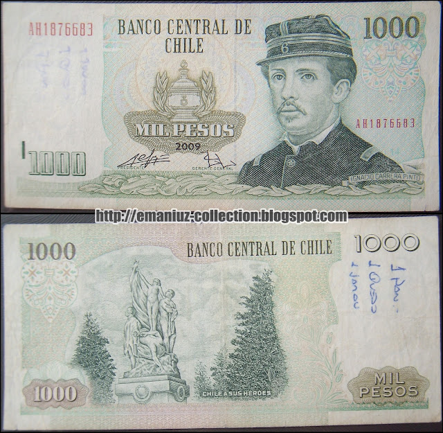 Chile P-154, 1000 Pesos, Banco Central de Chile