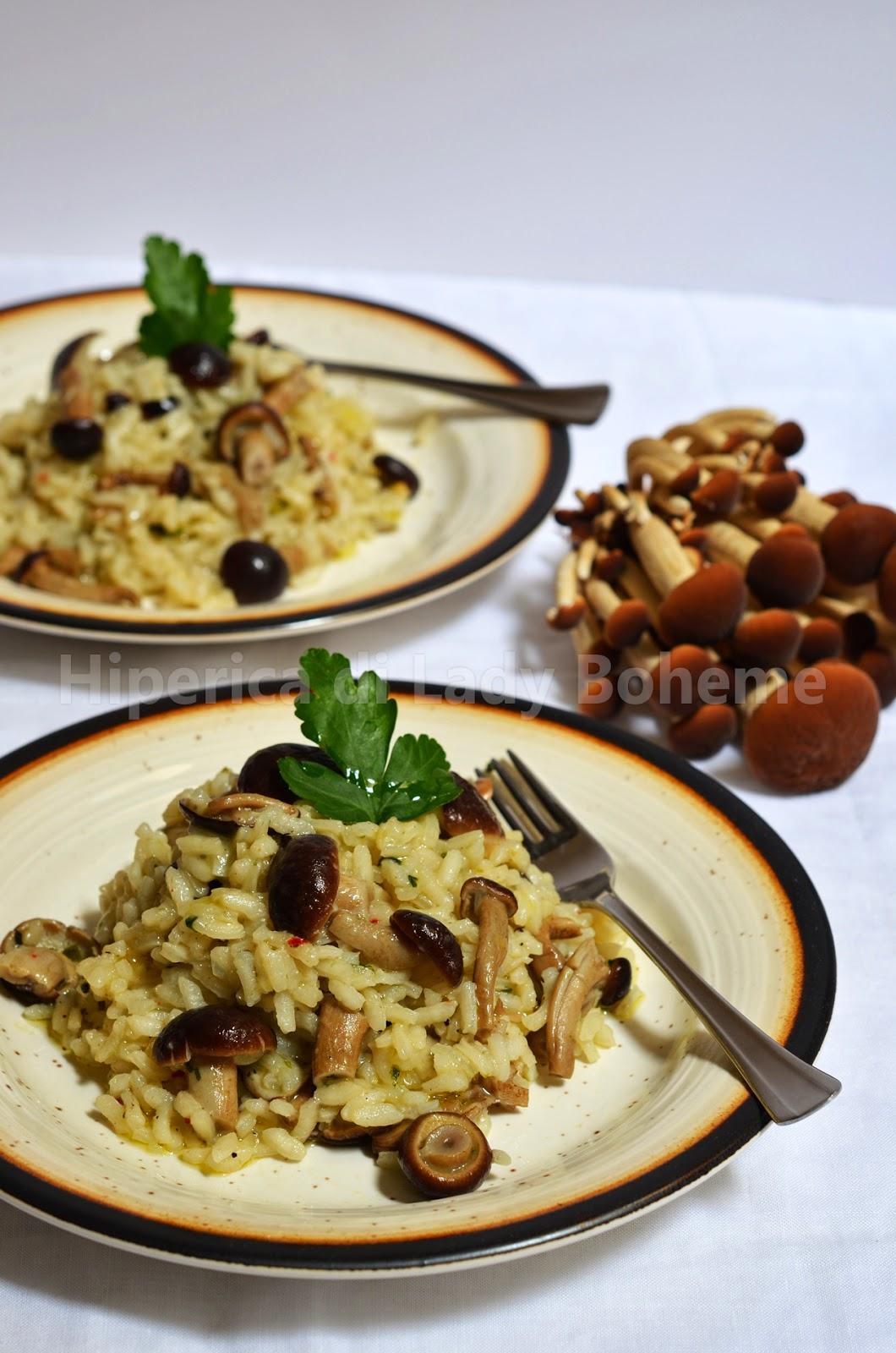 ricetta risotto con funghi pioppini